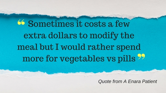 Sometimes it costs a few extra dollars to modify the meal but I would rather spend more for vegetables vs. pills.-